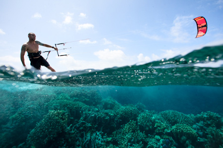 Reef kitesurfing