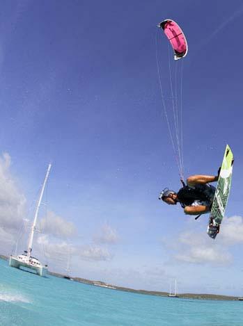 Kitesurfing in paradise
