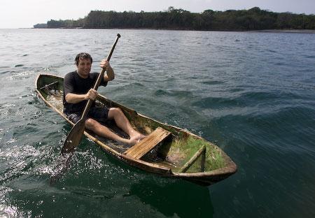 Dan in kayak