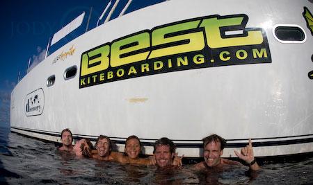 Swimming across the equator