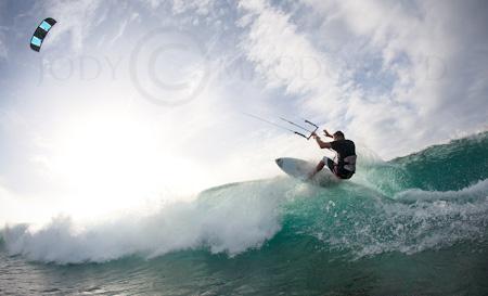Micronesia wave kiting Ben Wilson