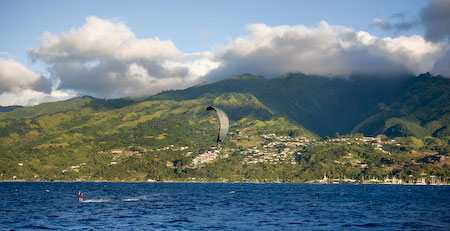 kitesurfing Tahiti