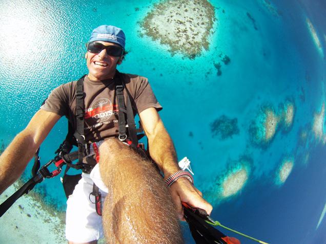 Maldives paragliding
