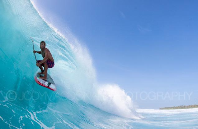 Huvadhoo atoll surfing, Jamie Mitchell