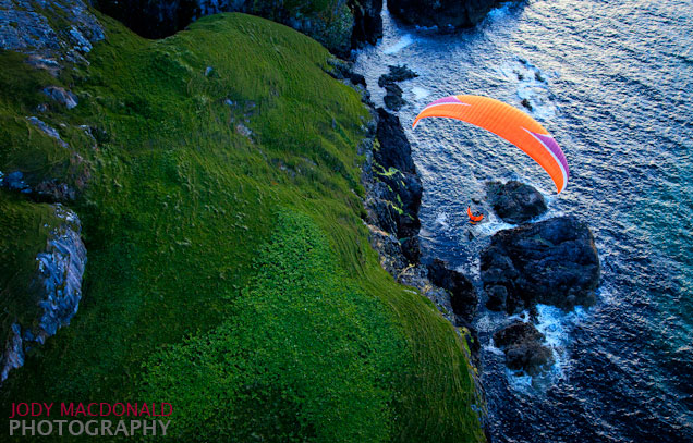 Outer Hebrides paragliding cliffs