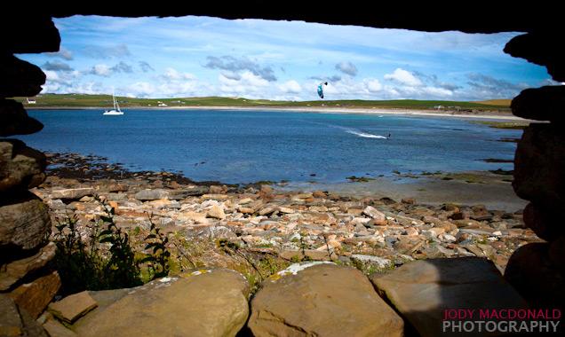 Kitesurfing Orkney islands