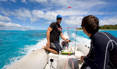 Boat paragliding